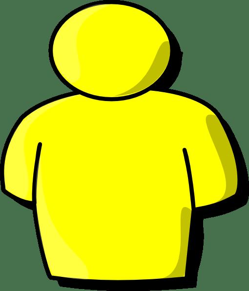 yellow person clip art