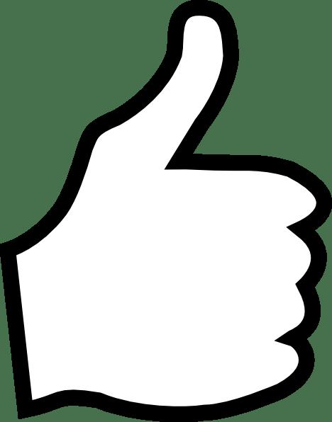 white thumbs clip art