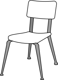 White Classroom Chair Clip Art at Clker.com - vector clip ...