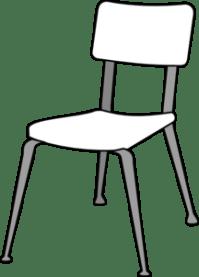 White Classroom Chair Clip Art at Clker.com - vector clip ...