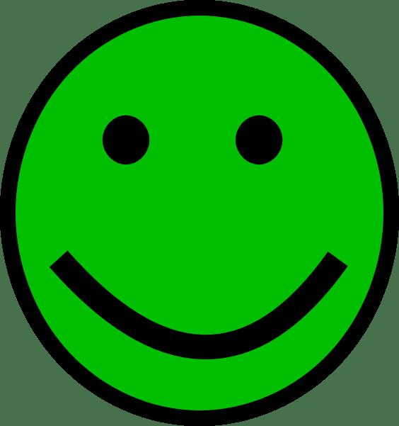 green smiley face clip art