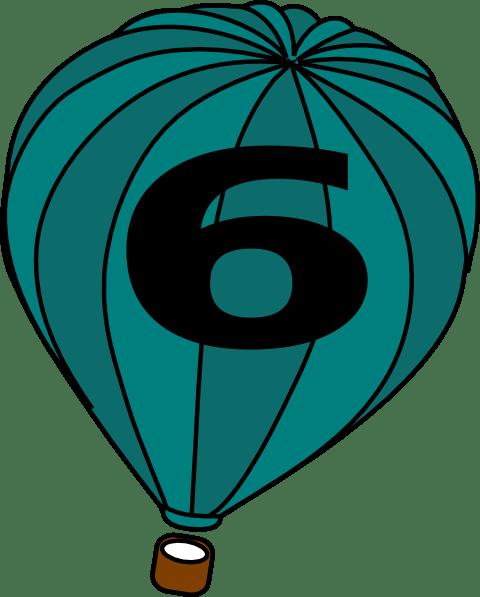 hot air balloon teal blue trophy