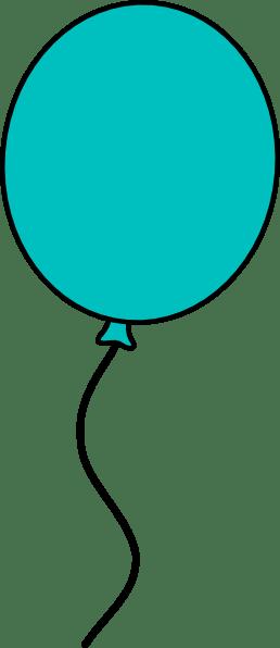 teal balloon dark outline clip