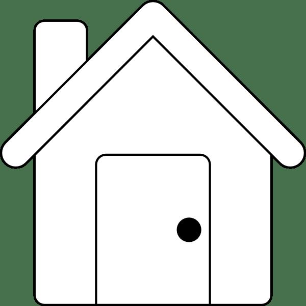house outline clip art