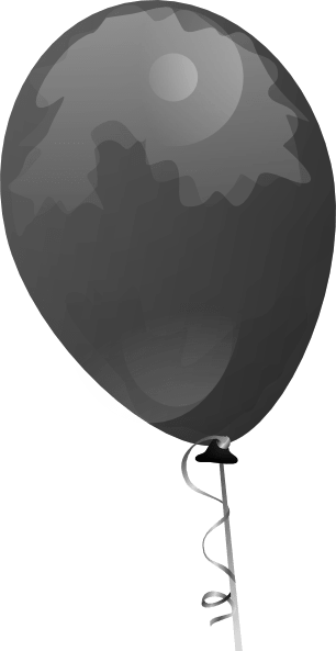 small black balloon clip art