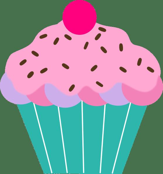 pink cupcake clip art