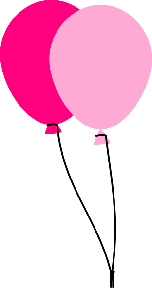 two pink balloons clip art