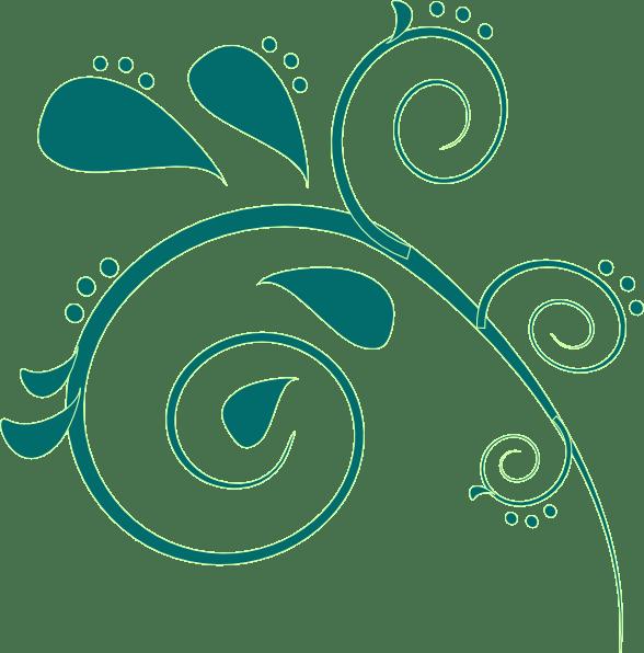 teal paisley clip art