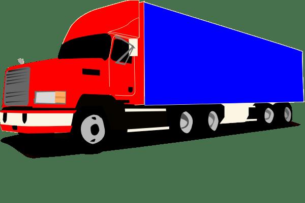 truck 18 wheeler trucker clip art
