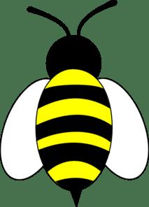large bee slanted wings clip art