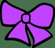 birth hair bow 3 clip art