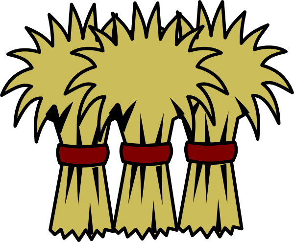 hay clip art - vector