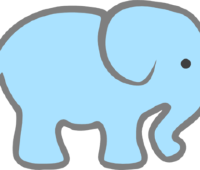 Lt Blue Baby Elephant Clip Art