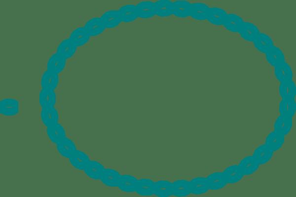 Oval Braid Teal Clip Art at Clkercom  vector clip art