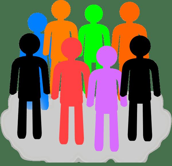 group clip art - vector