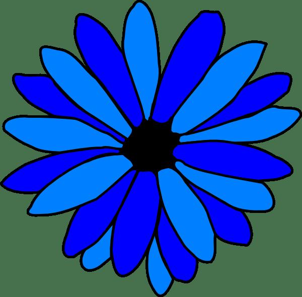 blue daisy clip art