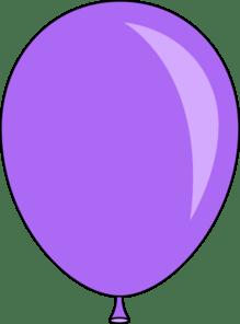 light purple balloon clip art