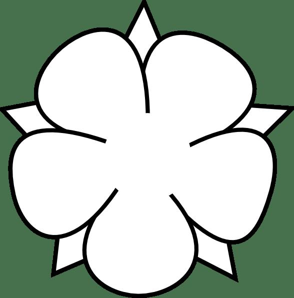 ornamental flower outline clip