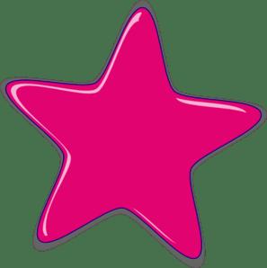 bright pink star clip art