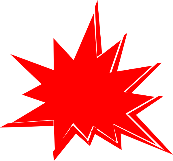 Red Explosion Clip Art at Clkercom vector clip art