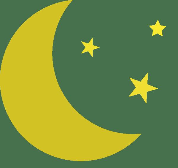 moon and stars clip art