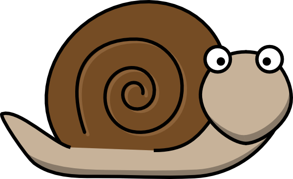 snail clip art - vector