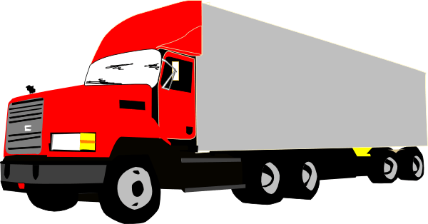 truck clip art - vector