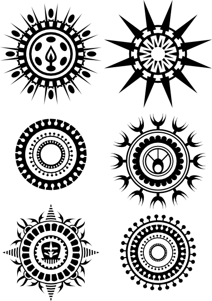 Aztec Circle Tattoo Design