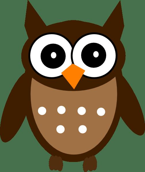 brown cute owl clip art