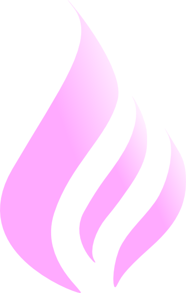 Blue Flame Simple Pink White Clip Art At Clker Com