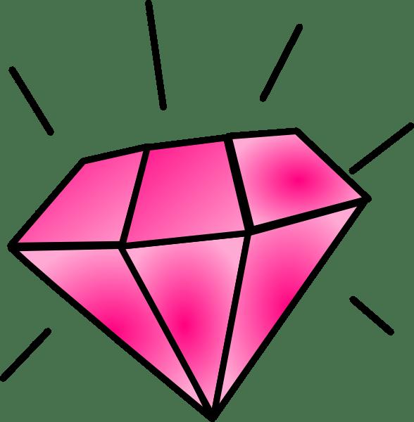 pink diamond clip art