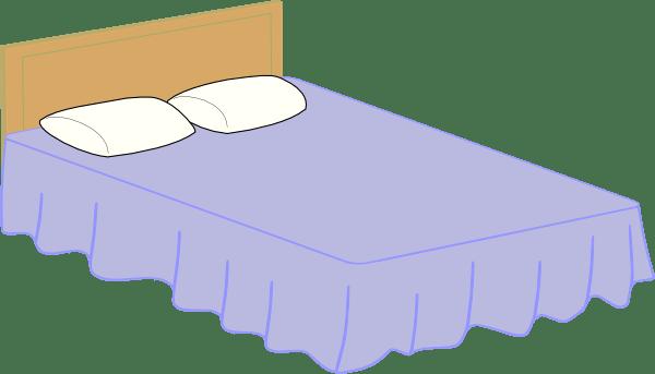 bed 2 clip art - vector