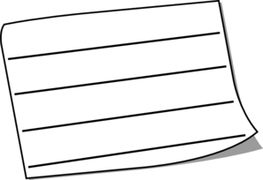 Wide White Sticky Note Lined Clip Art at Clker.com