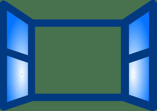 blue open window clip art