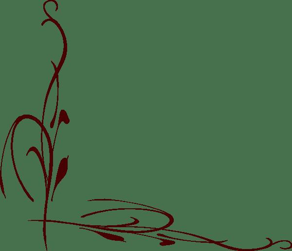 Burgundy Vine Wedding Clip Art At Vector