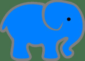 blue elephant clip art