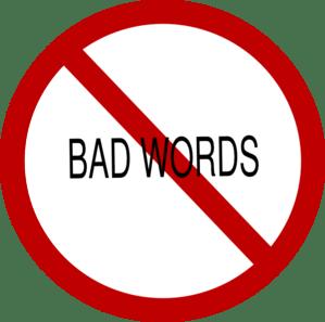 No Bad Words clip art