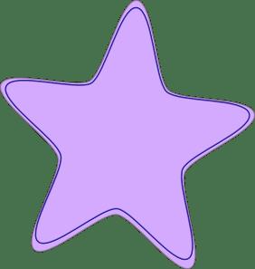 bright purple star clip art