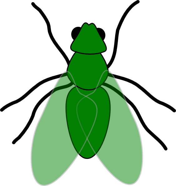 green fly web clip art