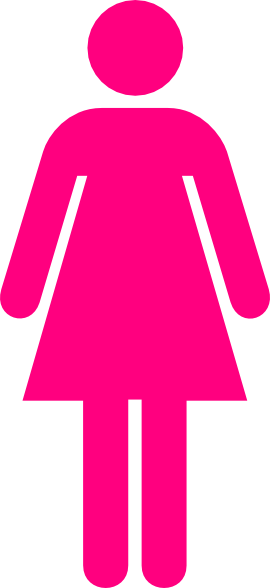 pink woman clip art