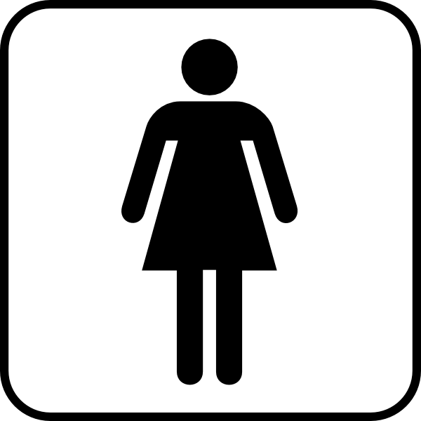 Woman Bathroom Bw With Boarder Clip Art at Clkercom