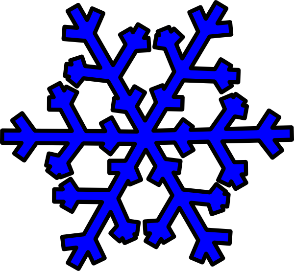 blue snowflake clip art