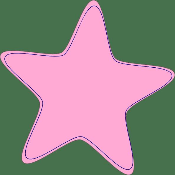 baby pink star clip art