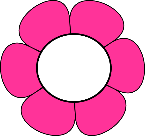 pink and white flower clip art
