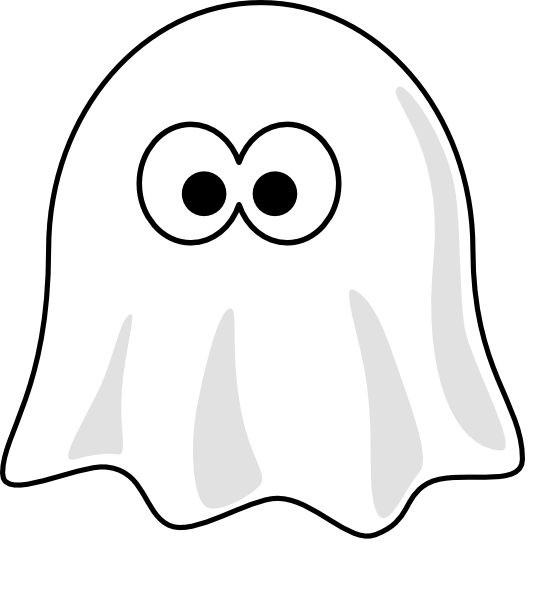 black and white ghost clip art