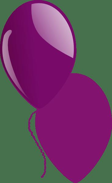 purple shiny balloon clip art