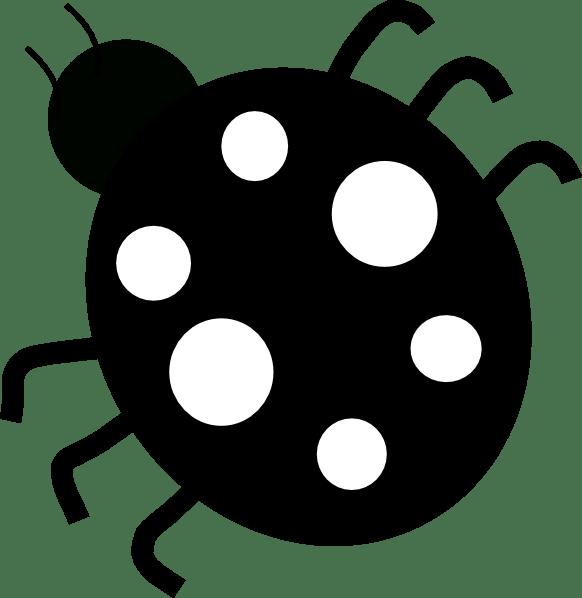 ladybug-black&white clip art