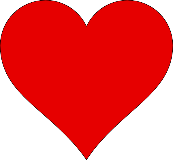 heart outline clip art