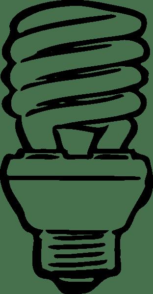 Compact Flourescent Light Bulb Clip Art at Clker.com