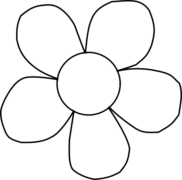 black and white daisy clip art